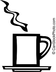 White Coffee Mug - smooth white vector image of a coffee mug...