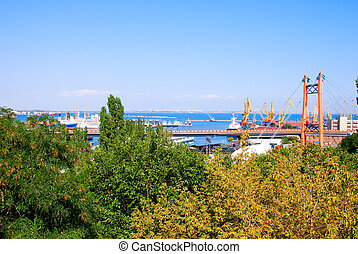Cargo port - A modern cargo port with cranes