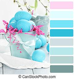Blue Easter Eggs Palette