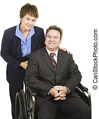 Business Partners - Disability - Business partners, male and...