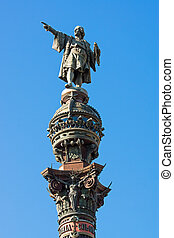 Columbus statue in Barcelona - The Columbus statue at the...