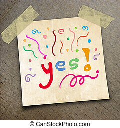 packing paper - Text yes on the shotnote paper on the...