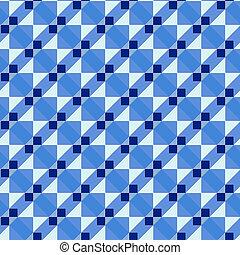blue art deco pattern