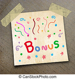 packing paper - Text bonus on the shotnote paper on the...