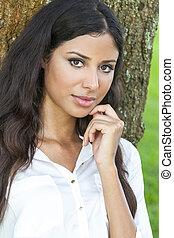 Beautiful Happy Hispanic Latina Woman