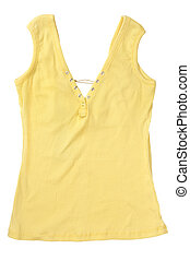 Yellow Sleeveles Shirt