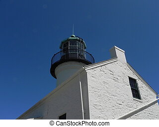 Cabrillo Lighthouse - Rear - A view of the back corner of...