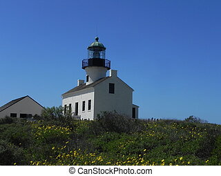 Cabrillo Lighthouse - side - The Pt Loma Cabrillo...