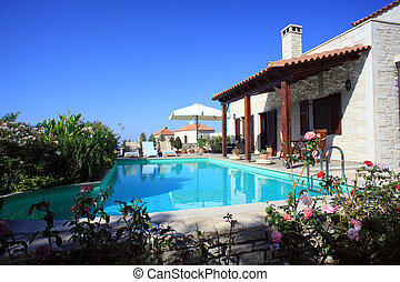 Greek holiday villa in Crete - A holiday villa that is used...