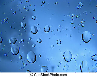 pingos chuva, vidro