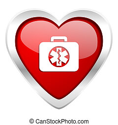 rescue kit valentine icon emergency sign