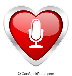 microphone valentine icon podcast sign