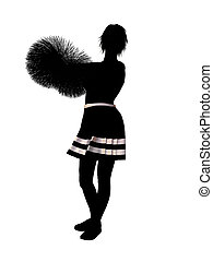 Cheerleader Illustration Silhouette