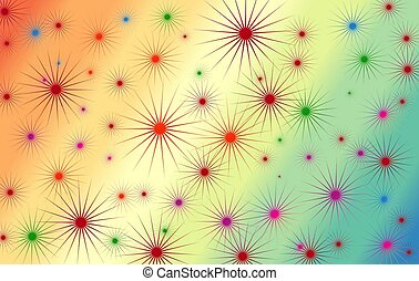 Colorful background pattern - Star like pattern on a...
