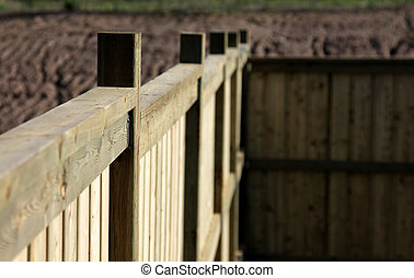 Close-up of a New Fence