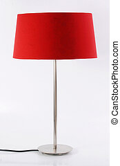 Floor lamp isolated on white background