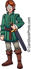 Medieval prince - Cartoon medieval prince. Vector clip art...