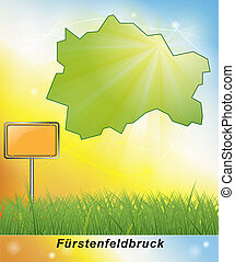 Map of Fuerstenfeldbruck