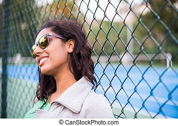 Sporty woman at park