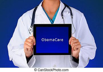 Nurse Tablet ObamaCare