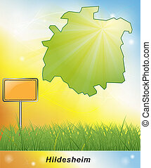 Map of Hildesheim