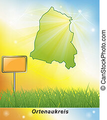 Map of Ortenaukreis