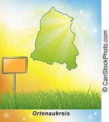 Map of Ortenaukreis