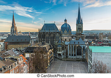 Aachen Cathedral in winter - The cathedral in Aachen...