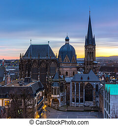 Aachen Cathedral on sunset - The cathedral in Aachen...