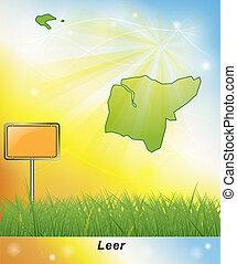 Map of Leer