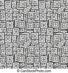 Seamless black and white square pat - Seamless pattern made...