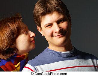 Attractive couple portrait