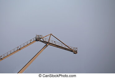 Harbor Crane - Gray crane in a harbor