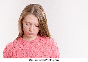 Upset young girl