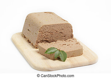 Homemade liver pate - Homemade chicken liver pate on the...
