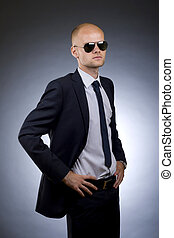 businessman with hands on hips - picture of a businessman...