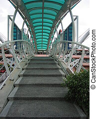 pedestrian bridge over the busy road