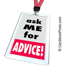 Ask Me For Advice Badge Help Assistance Customer Support Service