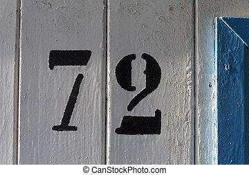 72 - doornumber seventy two 72