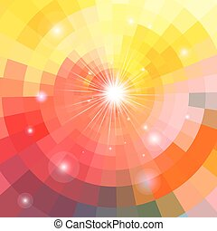 Abstract colorful background sun - bright multicolored...