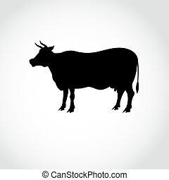 sign silhouette of a cow