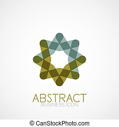 Symmetric abstract geometric shape, business symbol or logo...