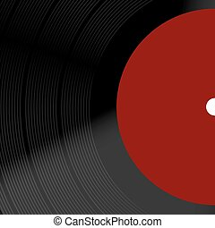 Vector modern old vinil record background. Eps10