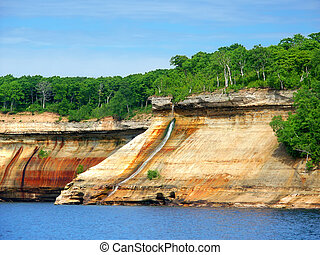 Pictured Rocks Bridalveil Falls Michigan - Bridalveil Falls...