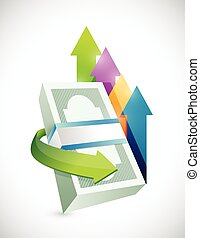 business money price going up illustration design over a...
