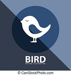 bird icon design, vector illustration eps10 graphic