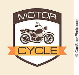 motorcycle shield design, vector illustration eps10 graphic
