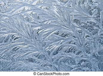 Frozen window - An ornament of frost on a window