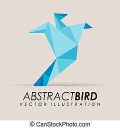 abstract bird design, vector illustration eps10 graphic