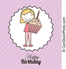 happy birthday design, vector illustration eps10 graphic